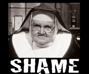 http://thejoyfulcatholic.wordpress.com/2011/04/13/shame-on-those-unjoyful-catholics/